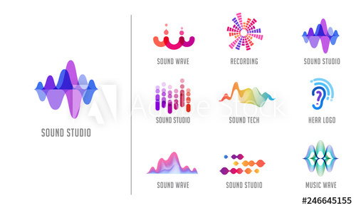 Music Logo Stock Photos Royalty Free Images Vectors Video Royalty Free Images Icon Design Sound Waves