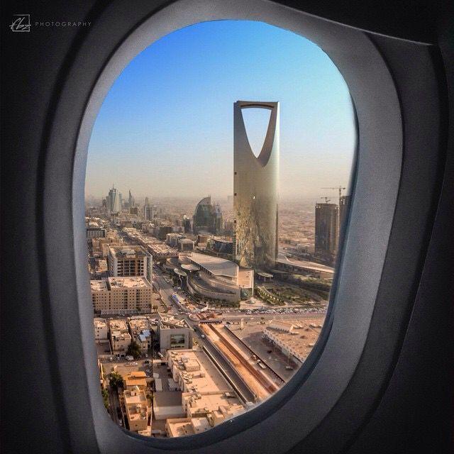 سماء الرياض Riyadh Sky Saudi Arabia Culture Photo Airplane Window View