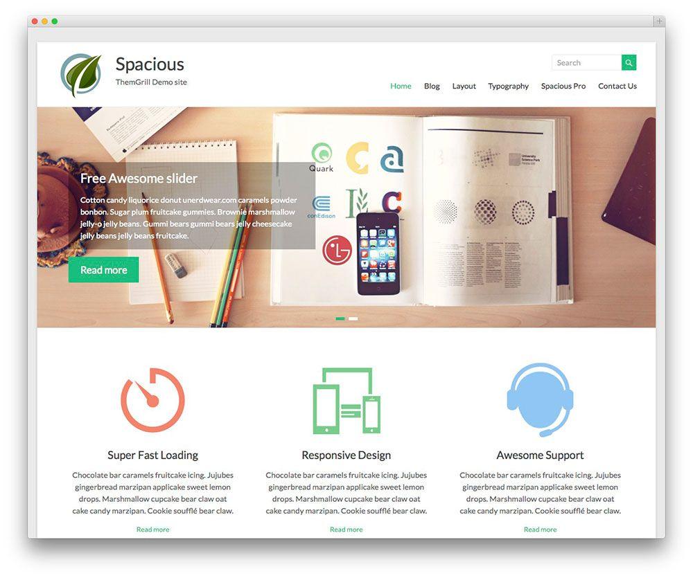 Spacious – Portfolio WordPress Theme | Projekty do wypróbowania ...
