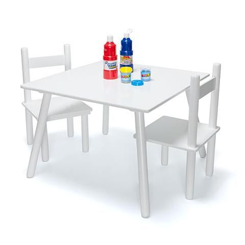 3 Piece Table and Chair Set - White $29.00 Table size 60cm (W)  sc 1 st  Pinterest & Table and Chair Set - White | Playrooms and Room