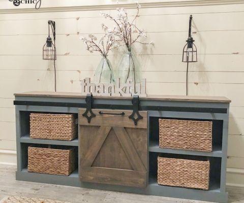Hidden Study With Sliding Barn Doors As Seen On Hgtvs Open Concept