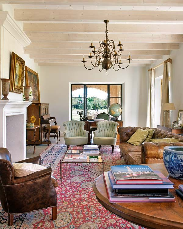 Rustic Country House In Mallorca Featuring British Influences Rugs In Living Room Oriental Rug Living Room Living Room Red