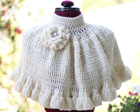 Cape in Ivory Crochet
