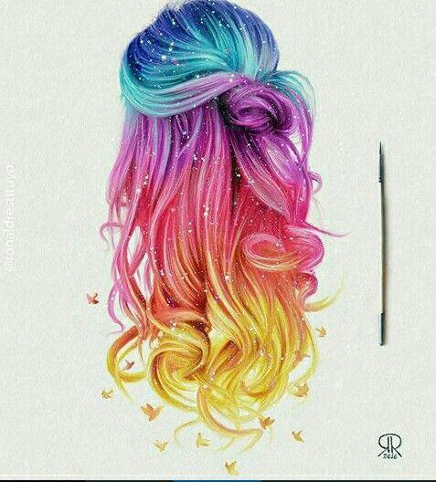 rainbow hair . 00214588