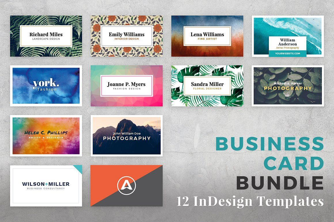 Business Card Bundle For Adobe InDesign By PhotoMarket On Creativemarket