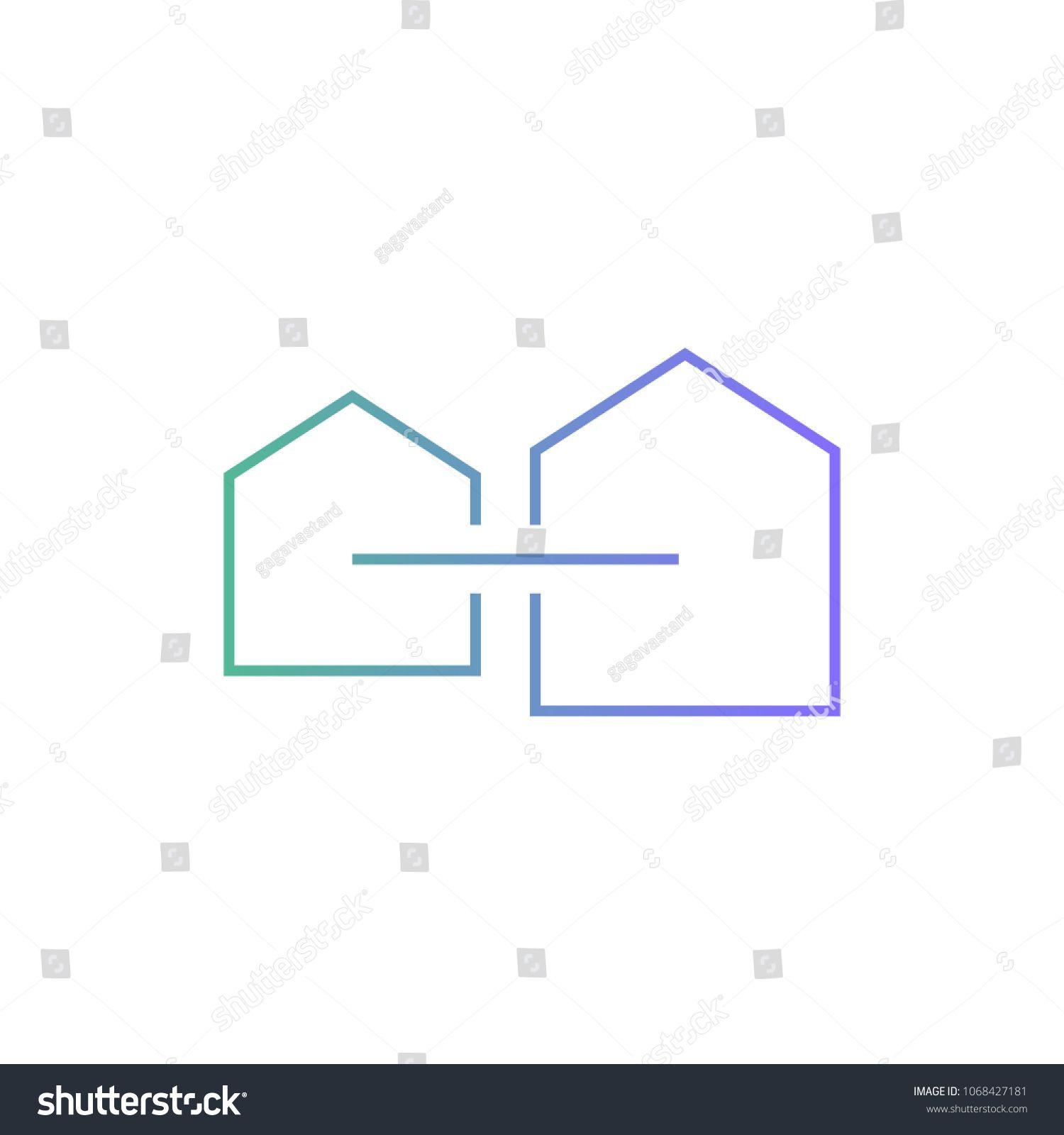 Home House Mortgage Logo Vector Icon Line Outline Logo