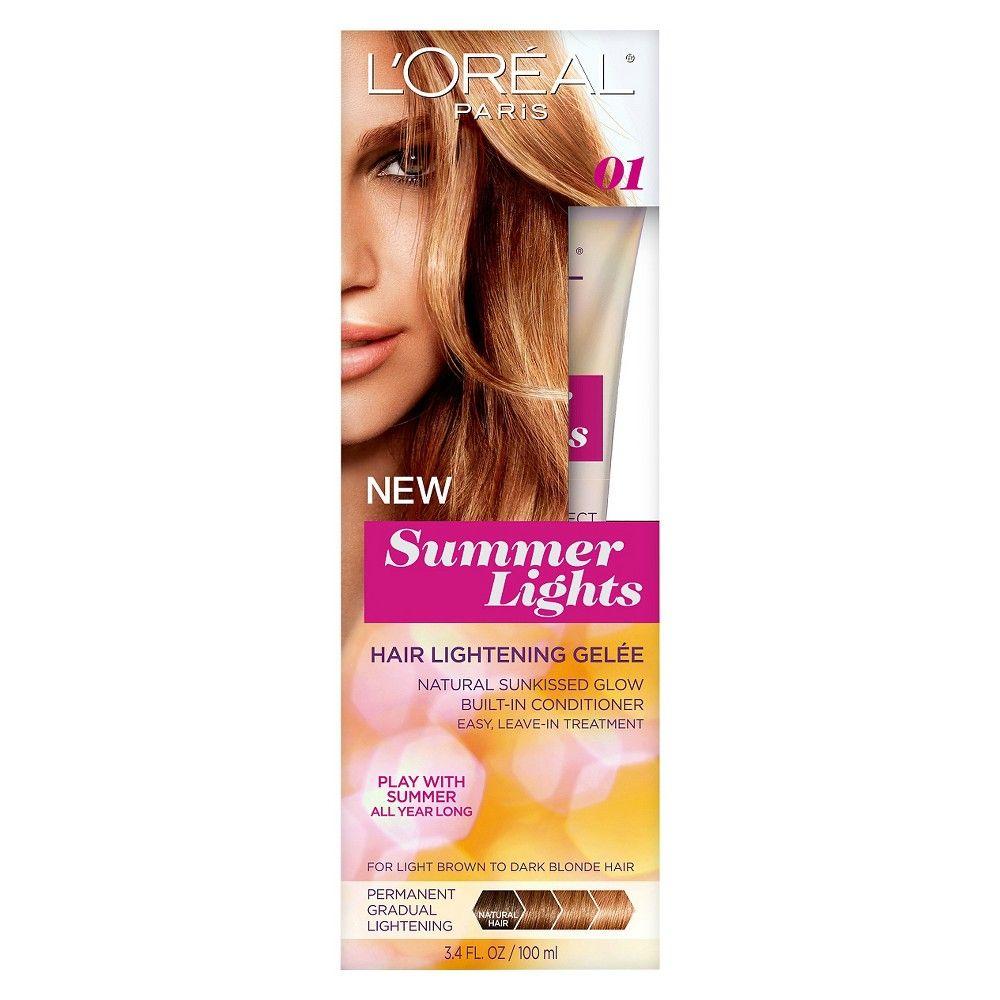Luoréal paris summer lights hair lightening gelee light brown