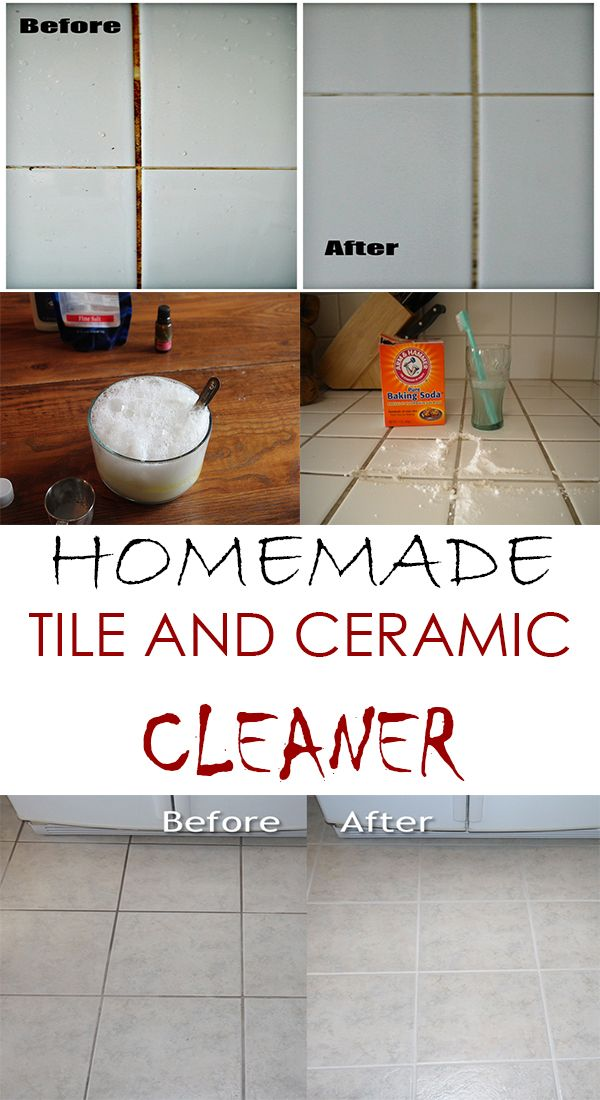 Homemade Tile And Ceramic Cleaner Cleaning Make Your Own