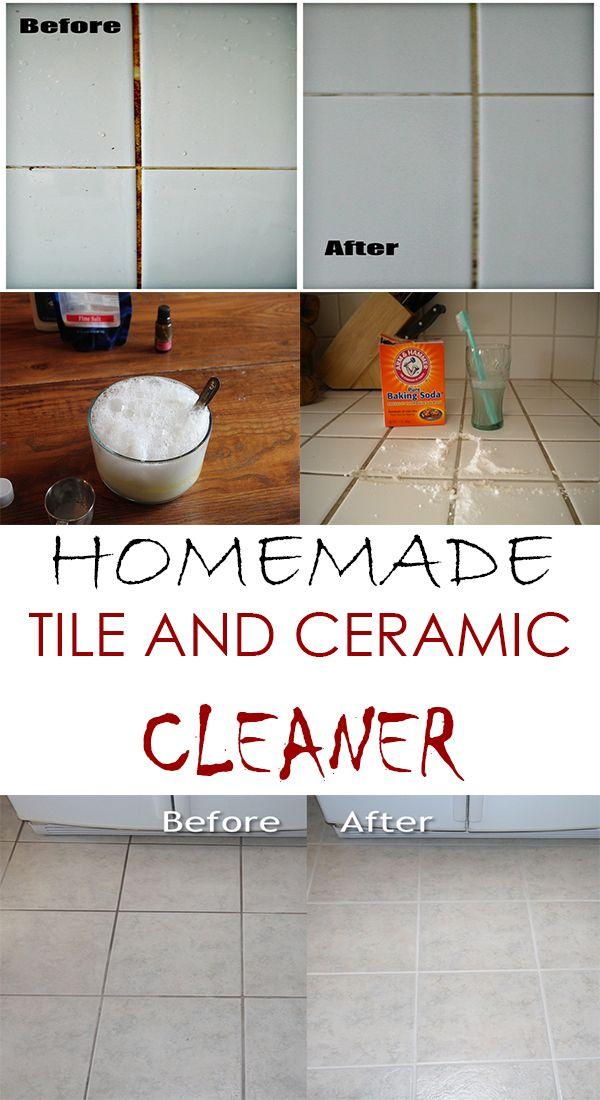 Homemade Tile And Ceramic Cleaner Pinterest Stress Free House