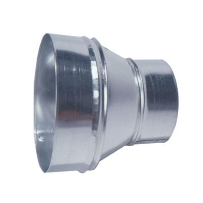 Master Flow 8 In To 6 In Round Reducer R8x6 The Home Depot Galvanized Steel Hvac System Duct Work