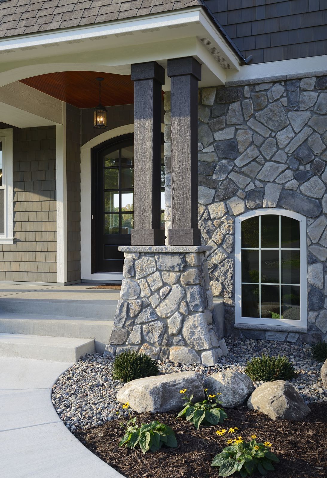 Dressed Fieldstone From Cultured Stone Stone Porches Front