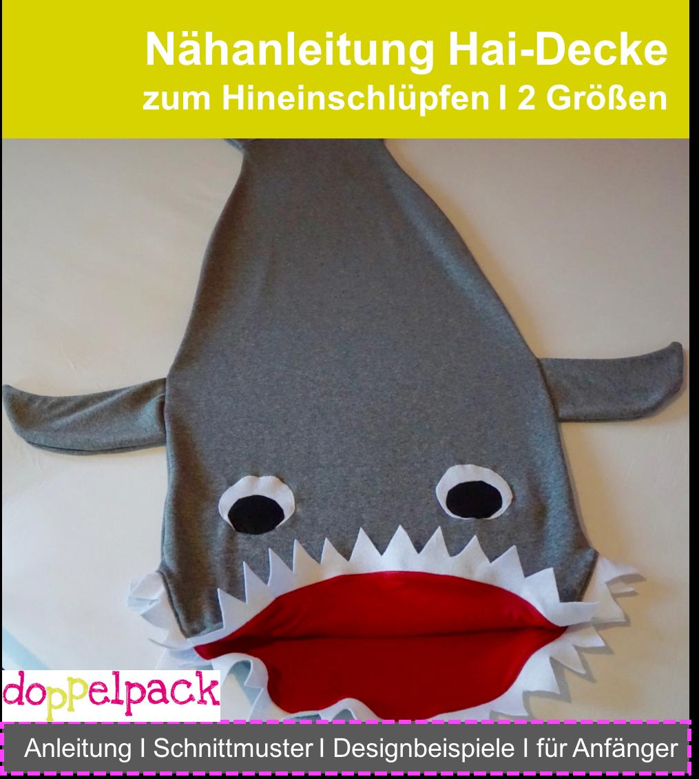 Hai Kuscheldecke, Haidecke, Nähanleitung, Shark | Weihnachten kinder ...