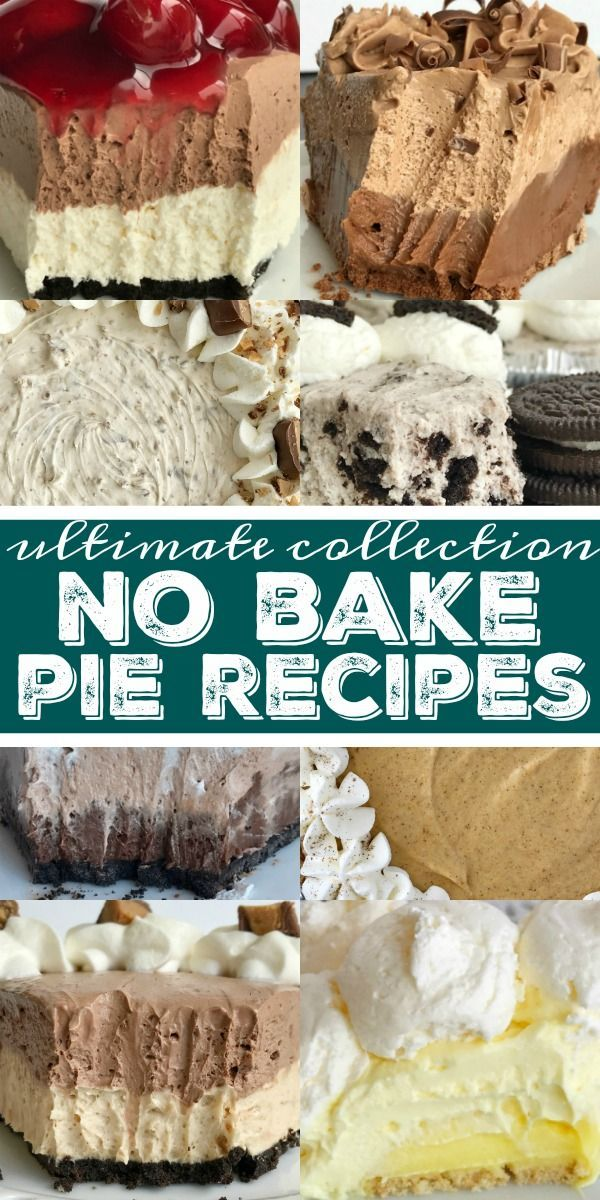 No Bake Pie Recipes #easypierecipes