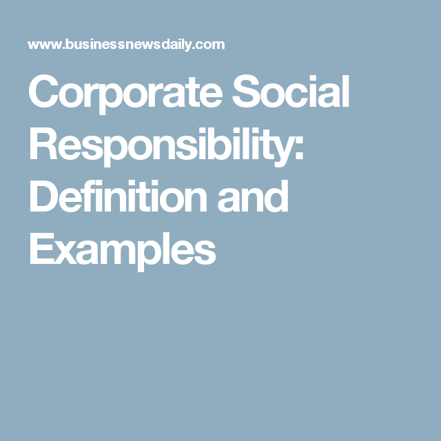 What Is Corporate Social Responsibility Corporate Social