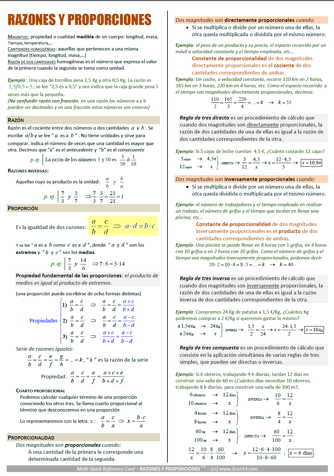Matematicas A Razones Y Proporciones Guia In