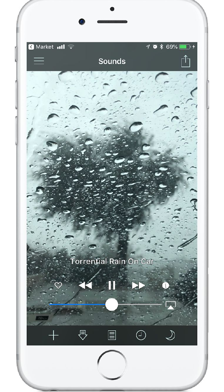 "Sit back, relax, and enjoy the sound of ""Torrential Rain"