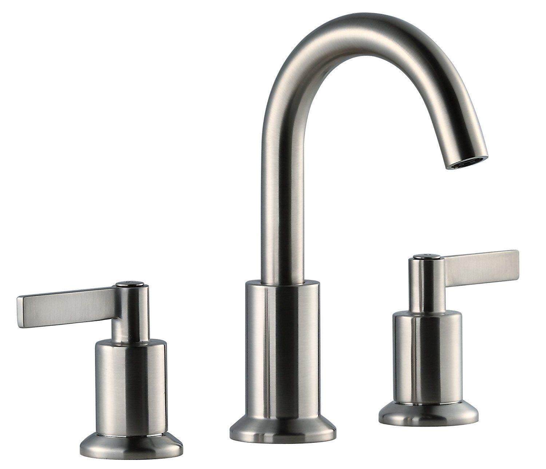 Derengge Solid Brass Two Handle 8 Inch Widespread Bathroom Sink ...