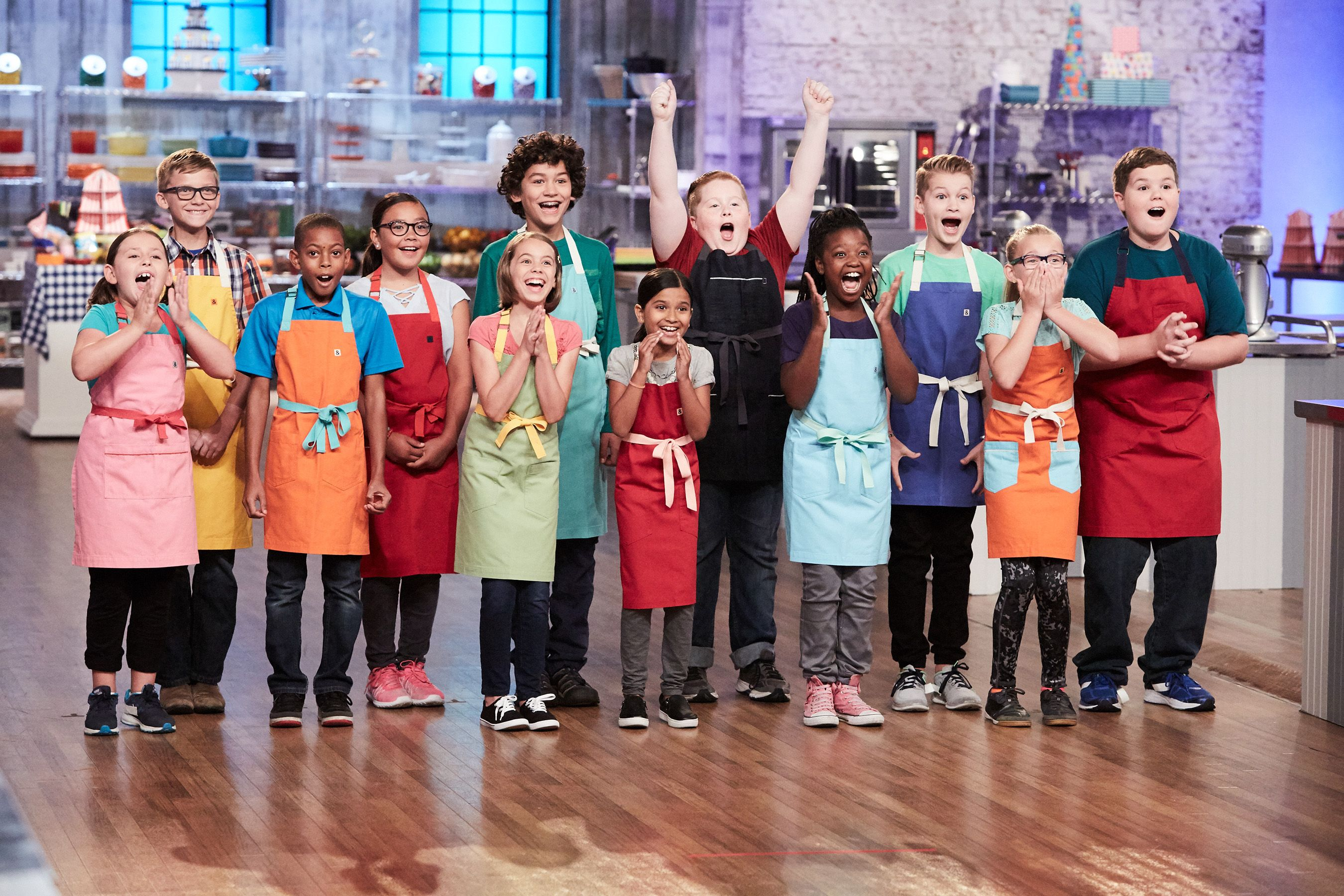 The Competitors Of Food Networks Kids Baking Championship Baking