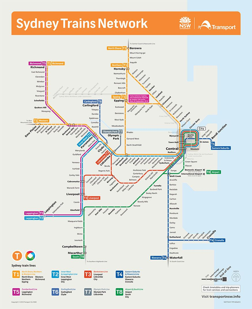 Rail Network Map | Airport Link in 2019 | Train map, Sydney ...
