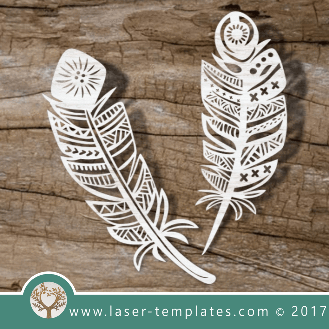 Online store for laser cut patterns. Free laser cut designs every day. 2  Boho Feathers . 8e9669f1b370d