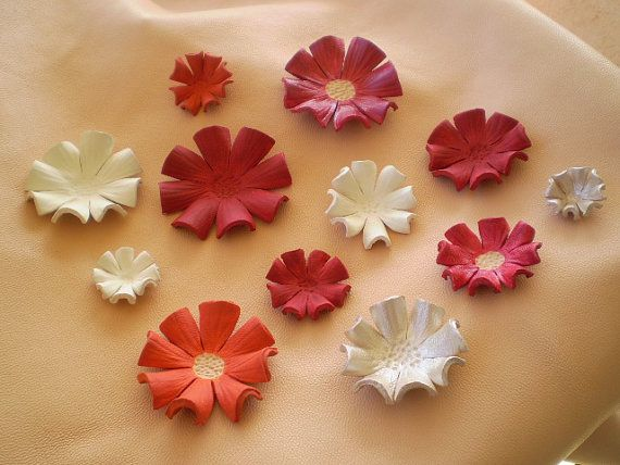 Leather flowers leather crafts pinterest leather for Leather flowers for crafts