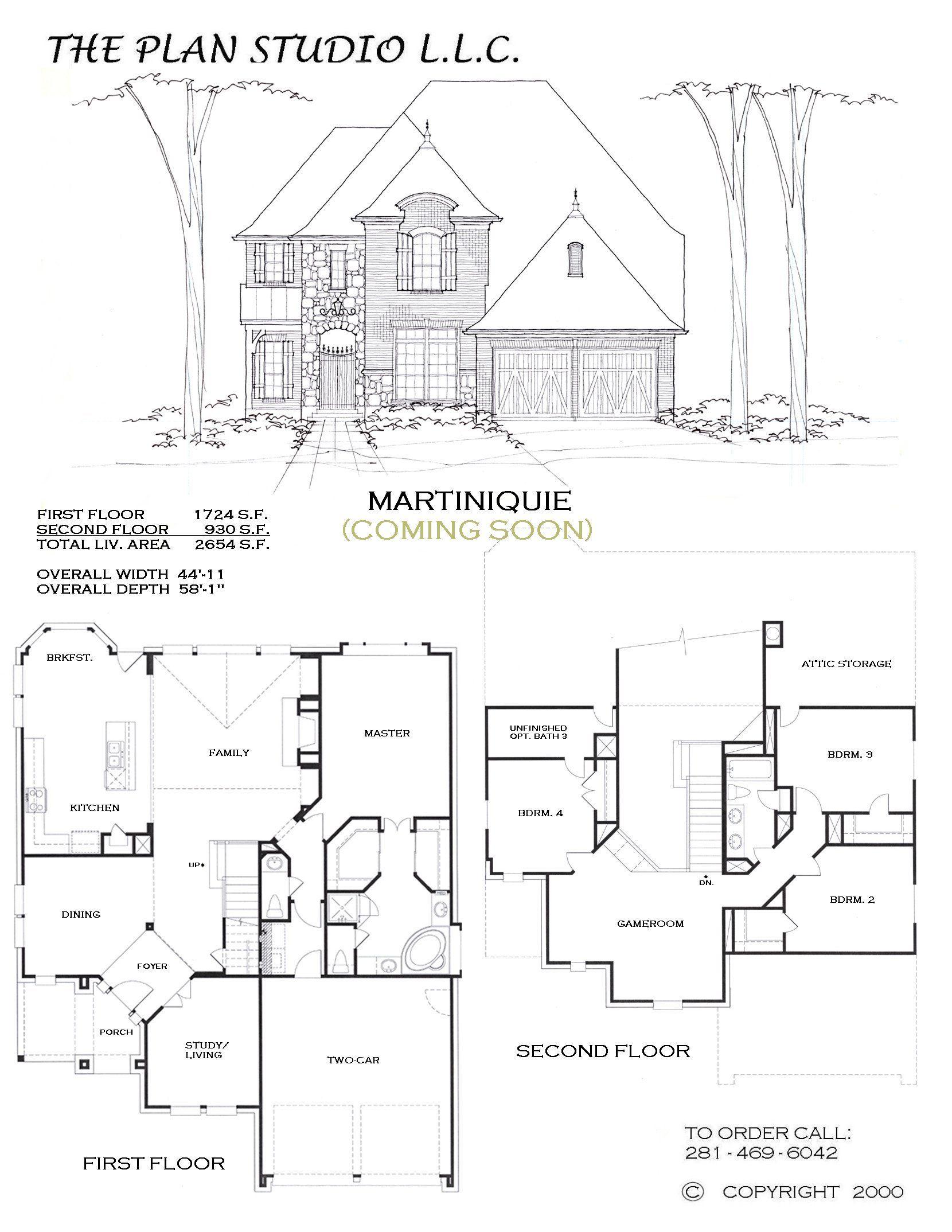 Martiniquie House Plans Floor Plans Exterior