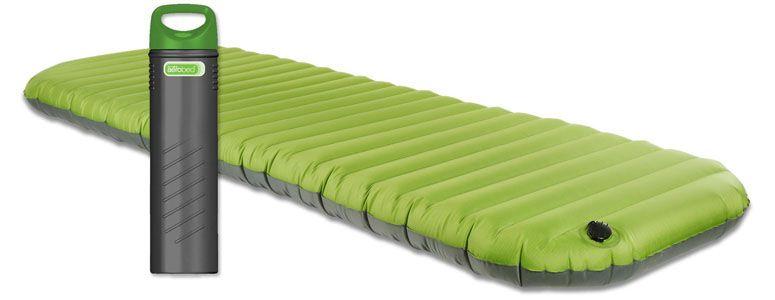 portable air mattress pump AeroBed Pakmat   Portable Airbed Stores Inside Pump | RV  portable air mattress pump
