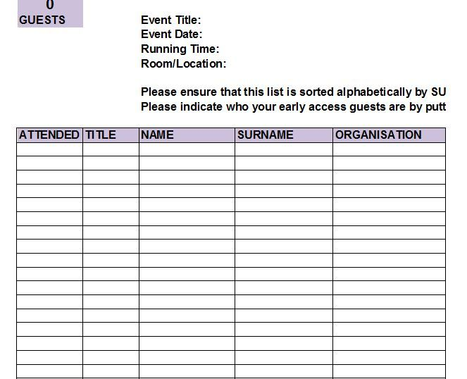 Worksheet  Guest List Spreadsheet Review Of Free Wedding Guest List