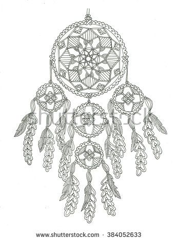Dream catcher coloring page dibus Pinterest Dream catchers