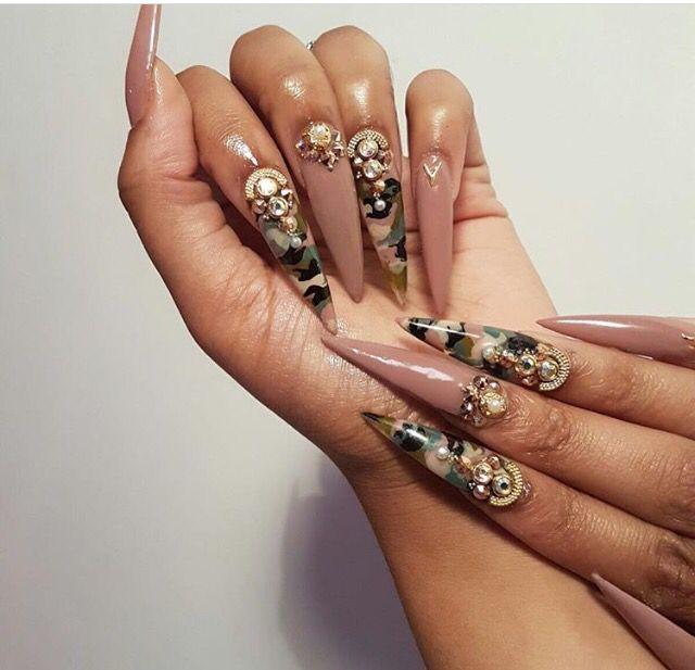 Nude & Camo Nails ✨ -ριntєrєѕt: @rljade xσ♡ | Lux Nails ...