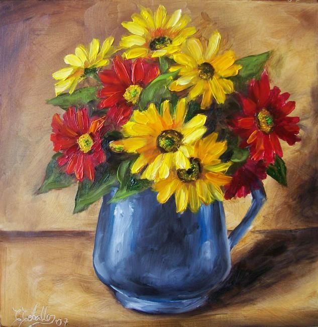 Bouquet de fleur peinture recherche google art for Bouquet de fleurs wine