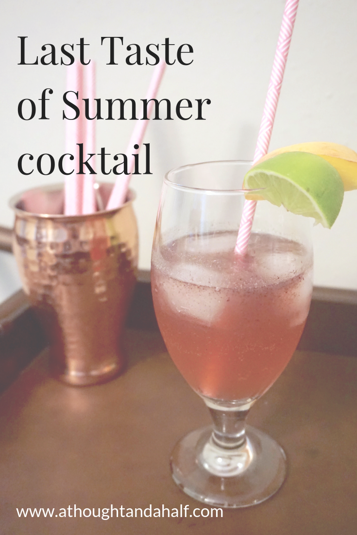 Last Taste of Summer Cocktail #summersouthernfood