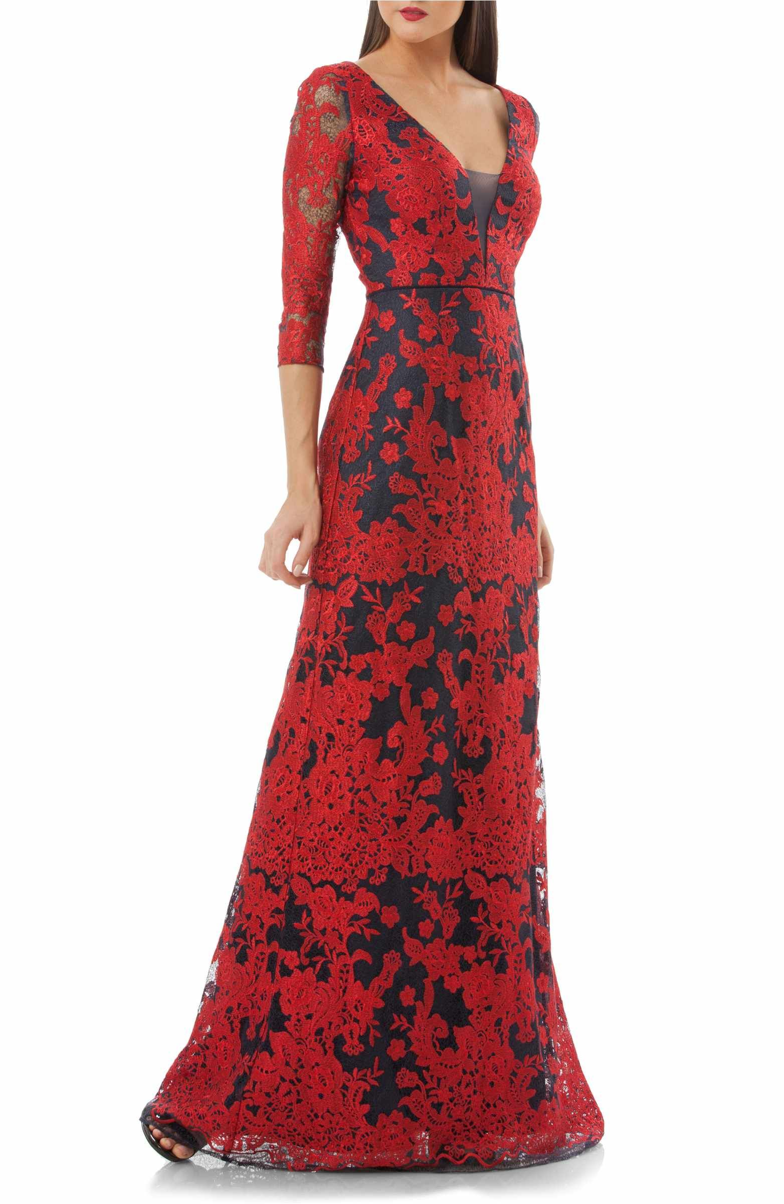 06871df7d07 Main Image - JS Collections Embroidered Lace Gown
