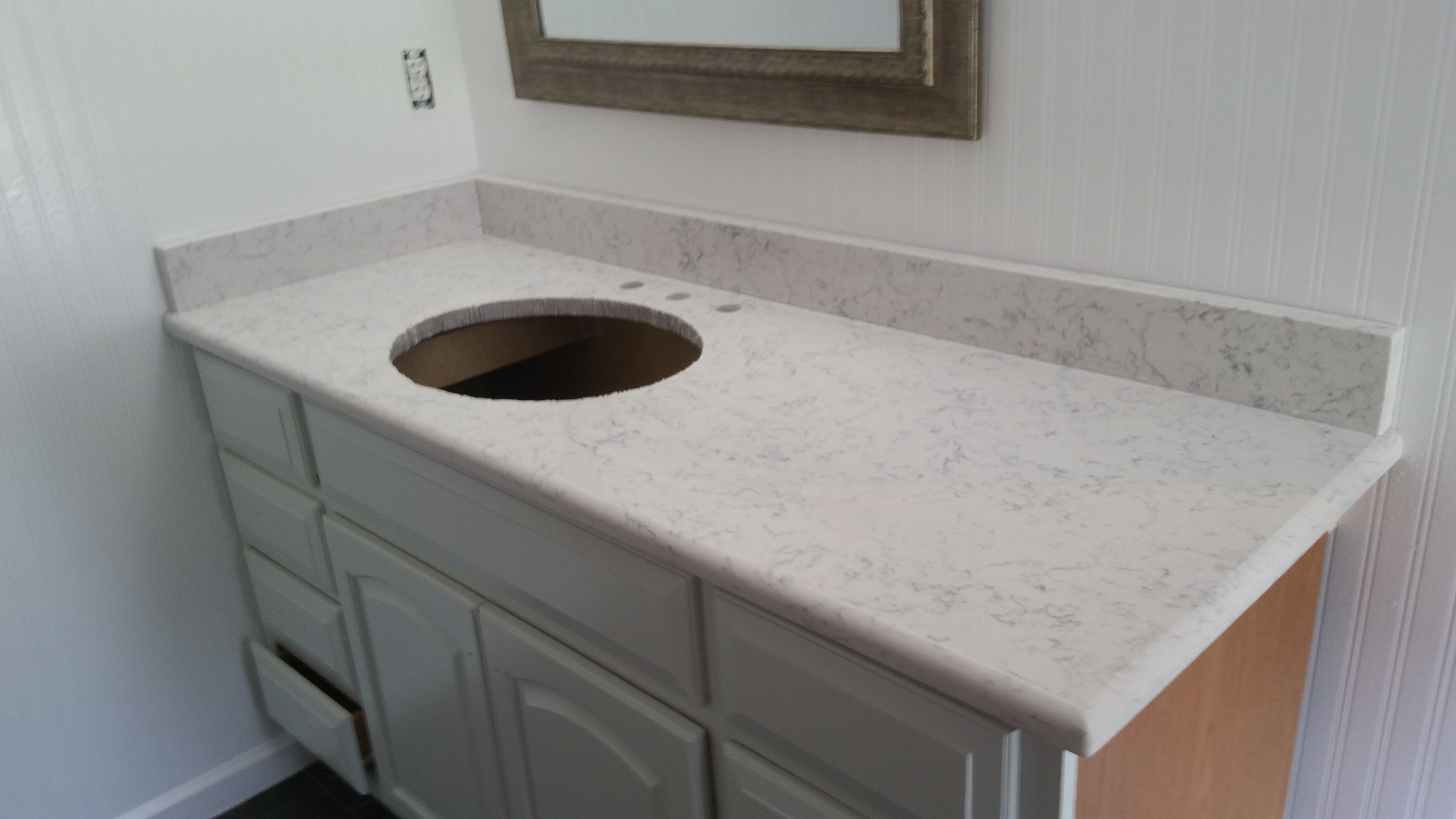 lyra silestone quartz granite bathroom vanity install for the spaulding family knoxvilles stone interiors