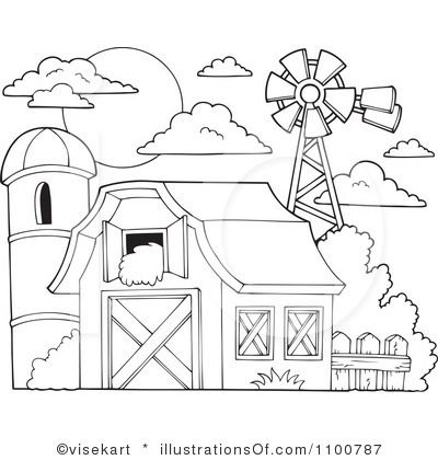 Barn Clipart Black And White