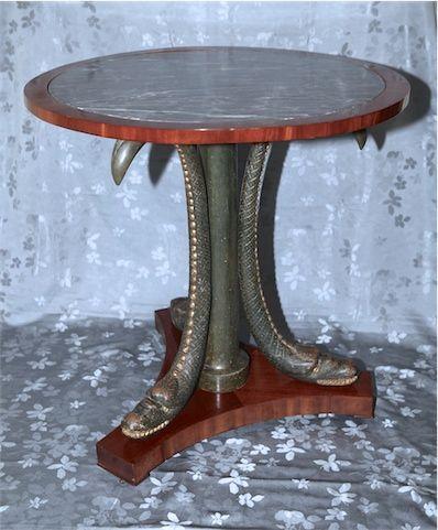 Gueridon Aux Chimeres Attribue A Jean Joseph Chapuis Bruxelles Vers 1810 Mobilier De Salon Gueridon Sellette