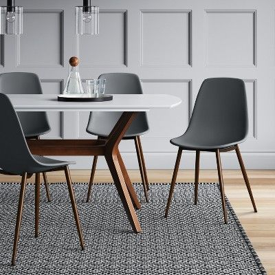 Copley Dining Chair 2pk Gray Project 62 Plastic Dining Chairs