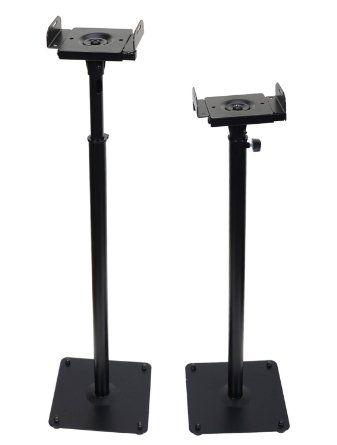 Videosecu 2 Adjustable Steel Speaker Stands Universal