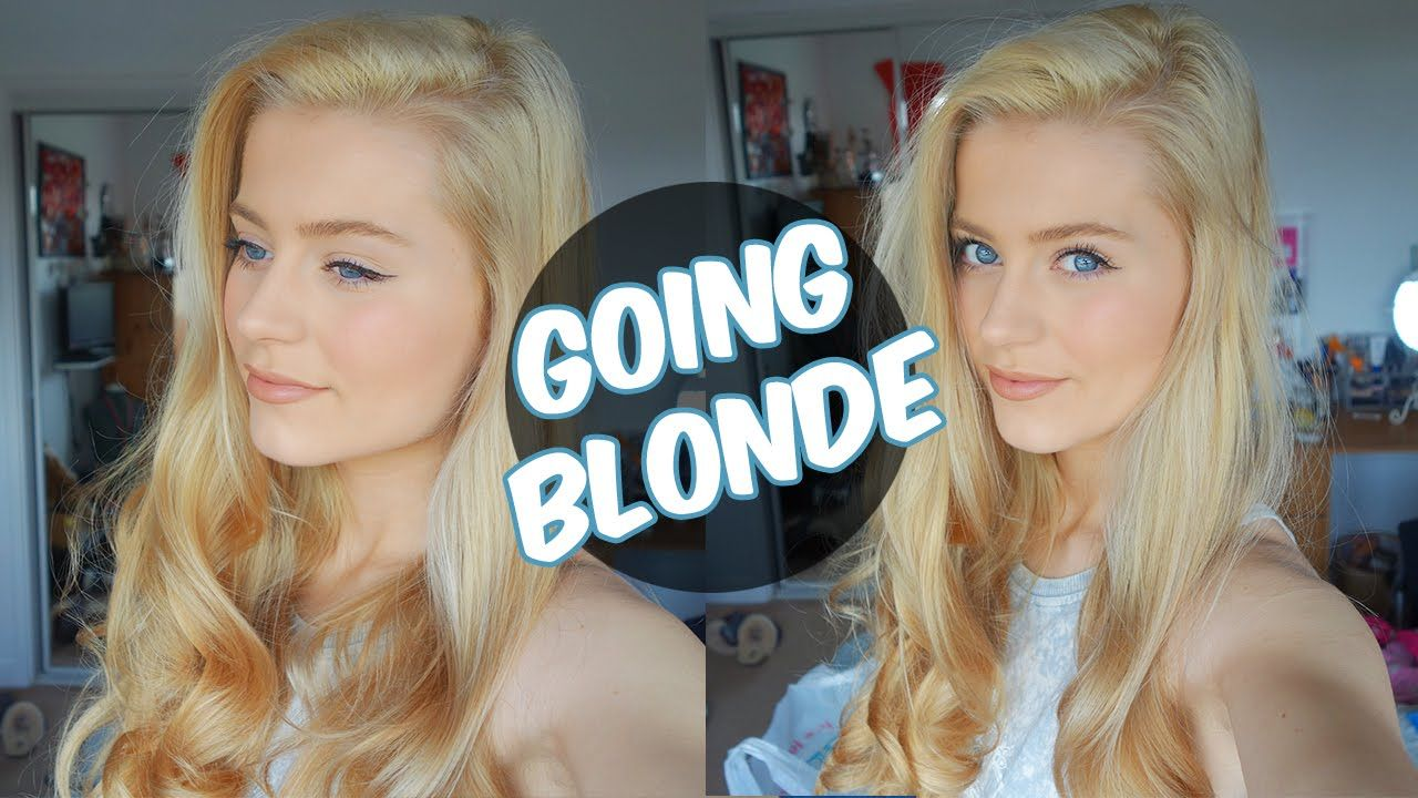 Going From BROWN to Platinum BLONDE Hair at Home VLOG Ellesse