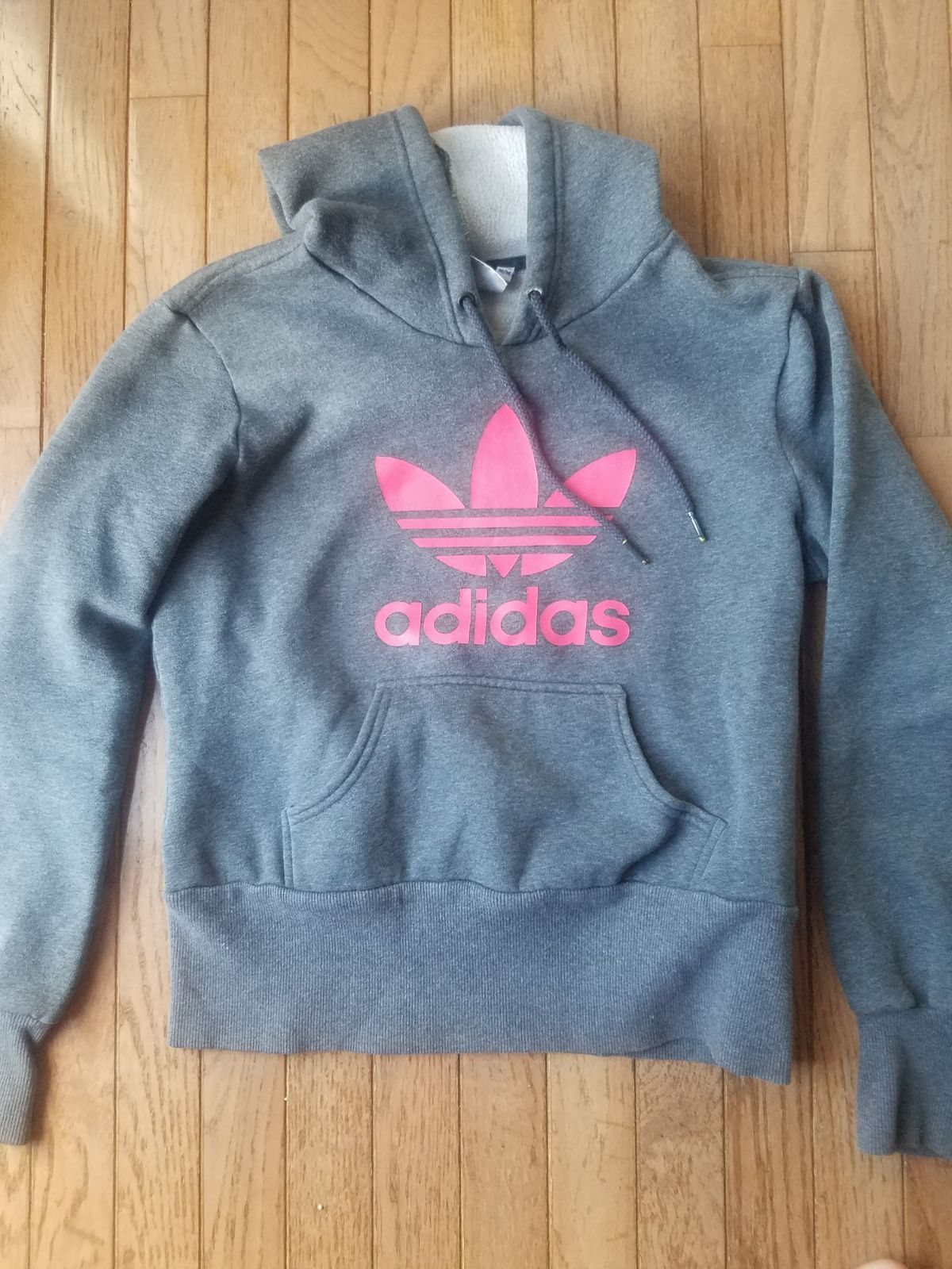 Cute Adidas Hoodie Dark Grey With Hot Pink Logo On The Front Soft Comfy Gently Used Runs Small Measuring Approx 20 Fro Adidas Hoodie Hoodies Adidas [ 1600 x 1200 Pixel ]