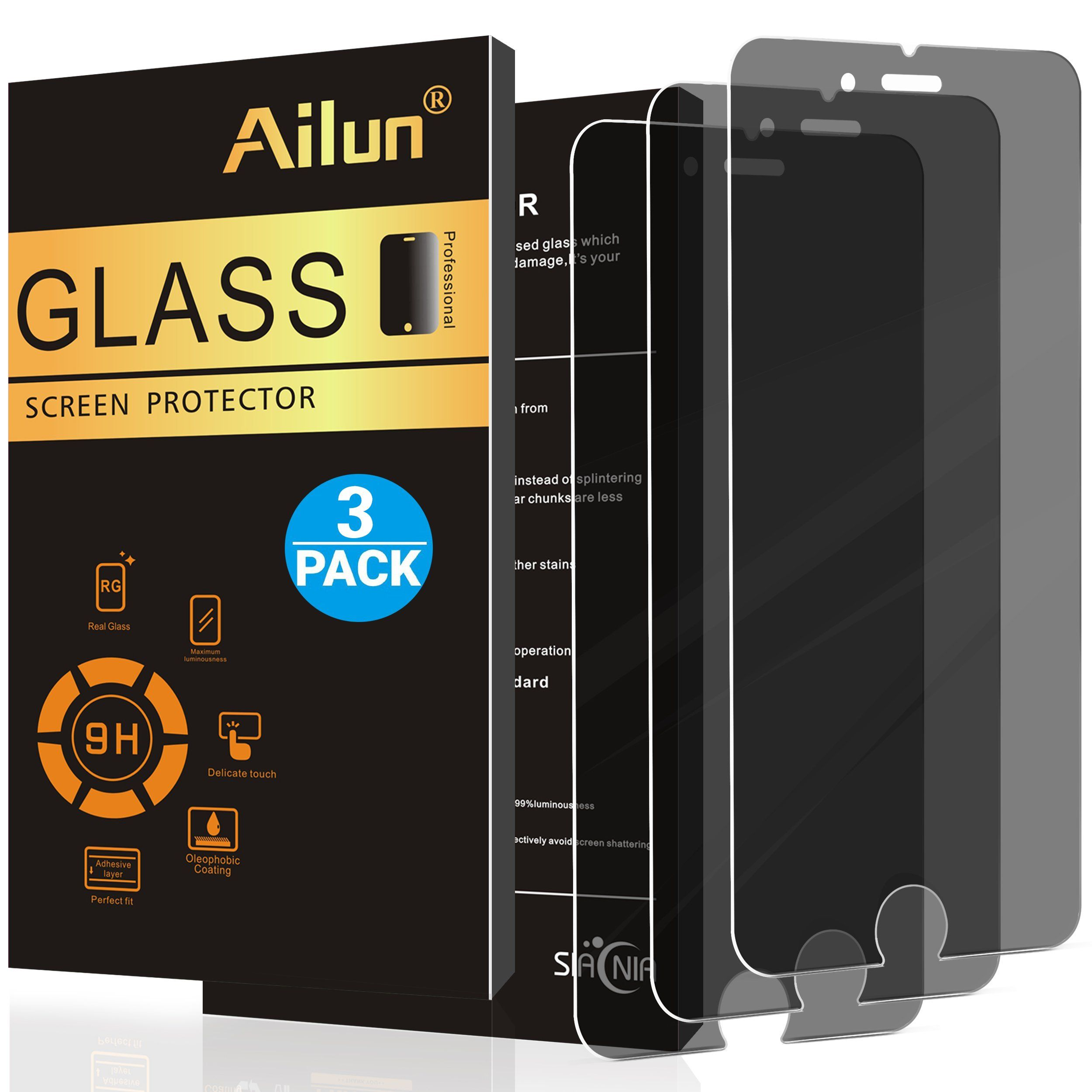 Ailun privacy screen protector for iphone 8 plus 7 plus3