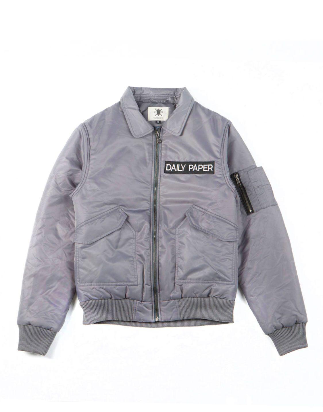 b6db655d8 Daily Paper Grey flight bomber jacket   Daily Paper   Bomber jacket ...