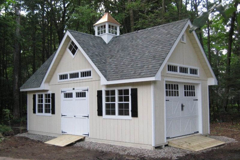 with 2 story garages throughout nj amish mikes sheds and barns feature a wide range - Garden Sheds Nj