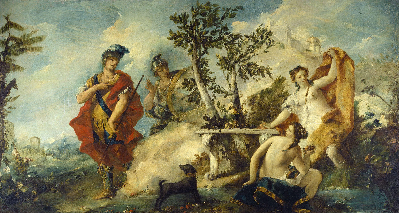 Gian Antonio Guardi and Francesco Guardi, 'Carlo and Ubaldo Resisting the Enchantments of Armida's Nymphs,' 1750/1755, National Gallery of Art, Washington D.C.