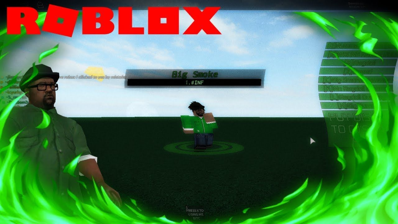 Roblox Big Smoke Script Review Eg Videos Pinterest