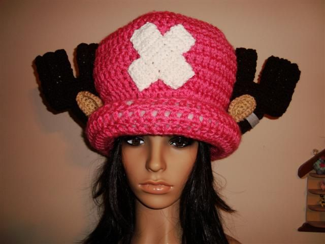 Tony Tony Chopper crochet Hat handmade cosplay by ~Irenescrochet on ...
