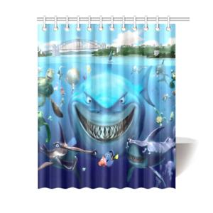 Finding Nemo Bathroom Waterproof Shower Curtain Shower Curtain Decor Nemo Bathroom Finding Nemo Bathroom