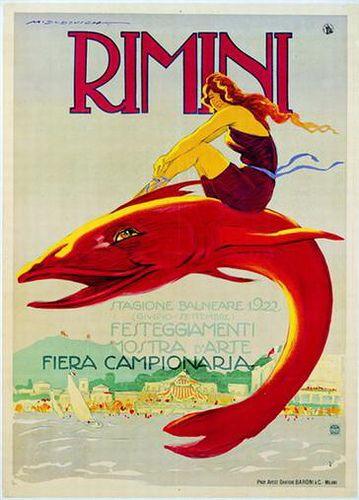 Dudovich Rimini Poster Poster Vintage Poster Vecchie Pubblicita