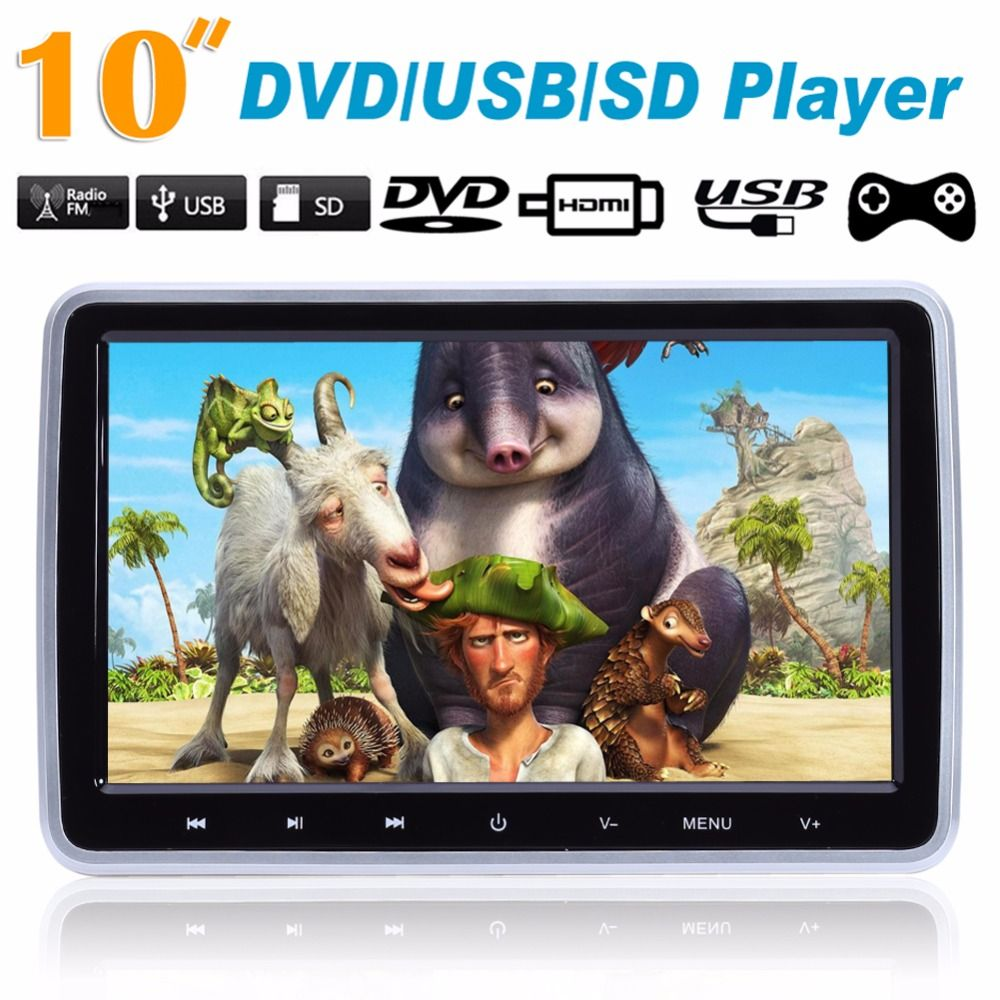 10 Inch Hdmi Monitors Hd Digital Lcd Screen Car Headrest Monitor Car Audio Playerfm Car Headrest Dvd Player With Gam Headrest Dvd Player Headrest Dvd Car Audio