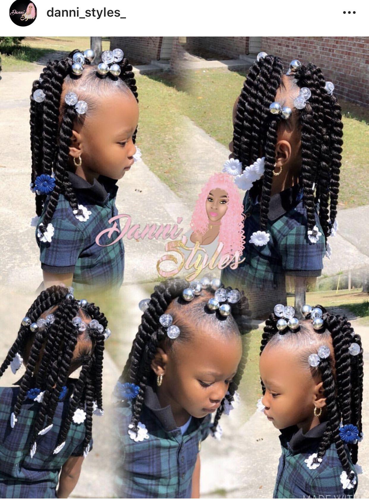 Pin By Sha B On Morgan S Hair Lil Girl Hairstyles Black Kids